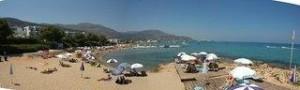 Last Minute Restplätze für Last Minute Reisen nach Kreta - Alexander Beach - Blick auf den Strand und das Mittelmeer