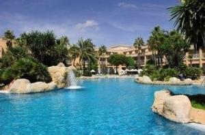 Lastminute Angebote für den Lastminute Urlaub in Spanien - Costa de la Luz - die Hipotels Barrosa Park -  das Luftbild verschafft Überblick