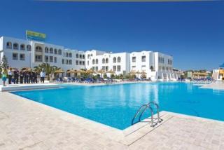 Lastminute Restplätze und Lastminute Angebote für Tunesien im Calimera Yati Beach mit Bilck auf das Haupthaus über den Pool