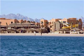 Last Minute Restplätze für Last Minute Reisen nach Ägypten ins Caribbian World Soma Bay - der Blick vom Meer aus