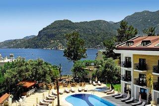 Last Minute Reisen in die Türkei ins Meril Botique Hotel mit einem Blick in Richtung Meer
