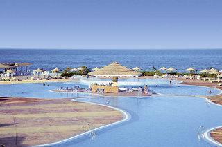Ägypten im Fantasia Resort mit Blick auf Pool und Meer