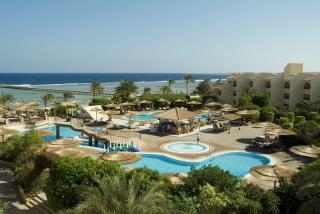 Ägypten im Flamenco Beach Resort mit Blick Richtung Meer