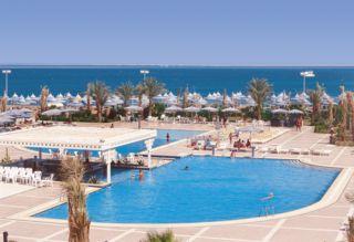 Ägypten im Grand-Hotel in Hurghada mit Blick Richtung Strand