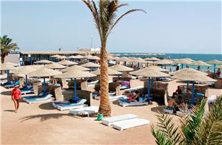 Ägypten im Three Corners Royal Star Beach mit einem Blick auf den Strand