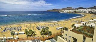 Gran Canaria das Reina Isabel mit Blick auf den Strand