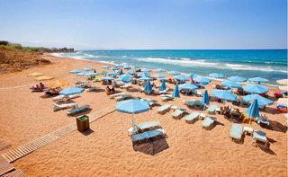 Kreta im Dedalos Beach Hotel mit einem Eindruck vom Strand