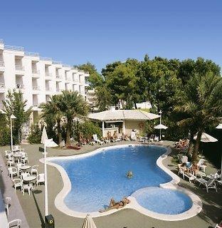 Mallorca in den HSM Lago Park Apartments in einer Außenansicht