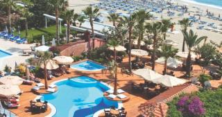 Türkei im Savk Hotel mit Blick auf Pool und Strand