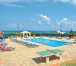 Kreta im Matheo Hotel mit einem Blick Richtung Meer