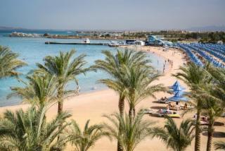 Ägypten - Grand Hotel Hurghada mit einem Bld vom Strand