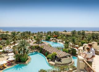 Ägypten - Grand Hotel Sharm mit Blick auf den Pool