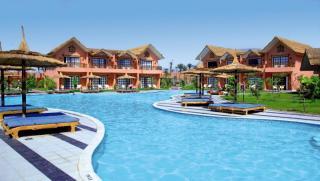 Ägypten - Jungle Aqua Park mit Blick auf die Poollandschaft und die Unterbringung
