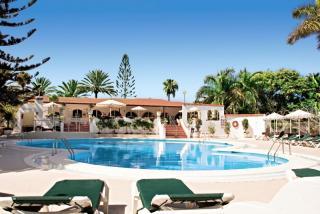 Gran Canaria - Bungalow-Hotel Parque Paraiso mit Blick auf den Pool