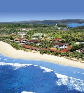 Sri Lanka-Kogala Beach & Club Koggala Village in einer Gesamtansicht aus der Luft